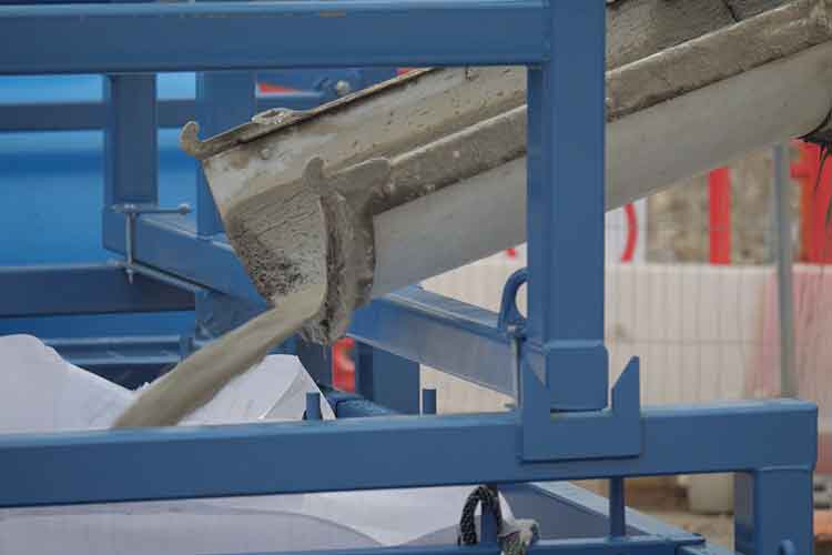 Concrete truck washing out