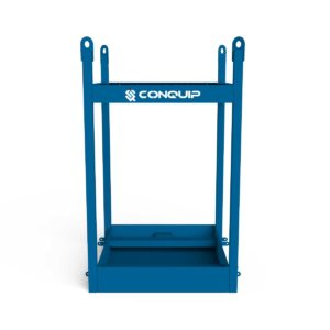 portable toilet lifting frame for crane lifting of portallo